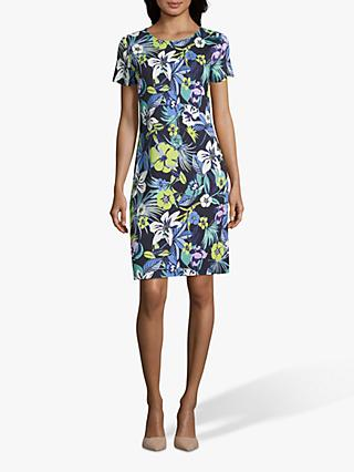 Betty Barclay Floral Jersey Dress, Dark Blue/Green