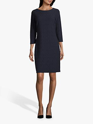Betty Barclay Textured Mini Dress, Dark Sky