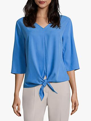 Betty Barclay Tied Hem V-Neck Blouse