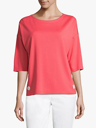 Betty Barclay Button Keyhole Top, Coral Red