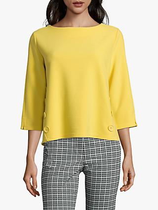 Betty Barclay Button Trim Top, Super Yellow