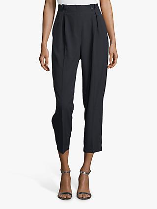 Betty Barclay Button Waist Cropped Trousers, Dark Sky