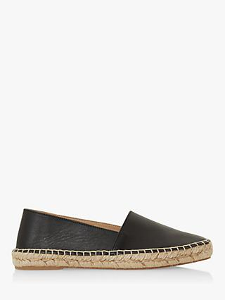 Bertie Greet Leather Espadrille Loafers, Black