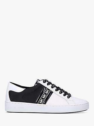 MICHAEL Michael Kors Keaton Flat Lace Up Trainers, White/Black