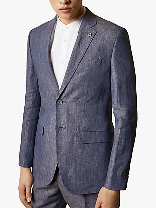 Ted Baker Jeanj Linen Tailored Fit Suit Jacket, Purple