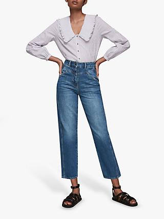 Whistles Seam Detail Jeans, Blue