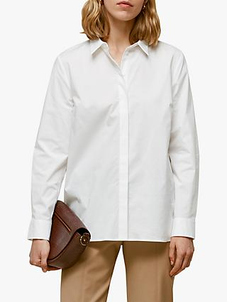 Whistles Longline Shirt, White