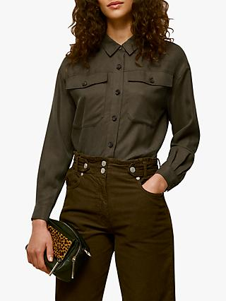 Whistles Ultimate Utility Shirt, Khaki