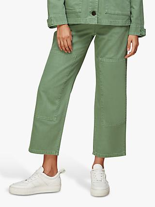 Whistles Ultimate Cargo Trousers, Pale Green