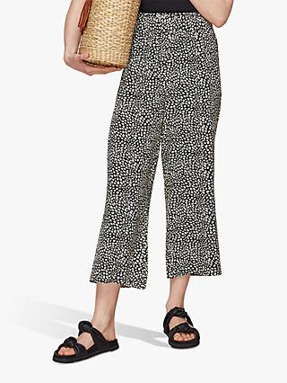 Whistles Abstract Print Cropped Trousers, Multi