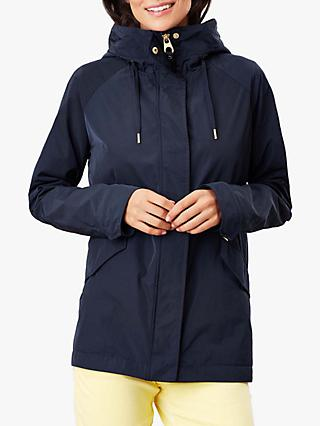 Joules Hollywell Shower Resistant Coat, Marine Navy