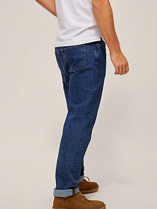 John Lewis & Partners Straight Fit Organic Cotton Jeans