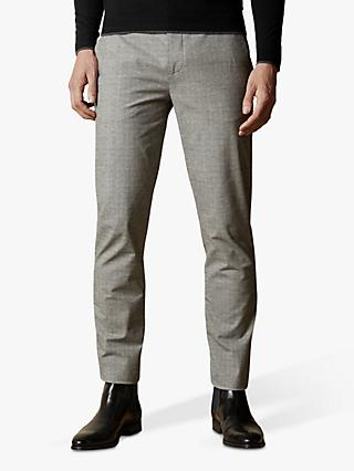 Ted Baker Sappy Check Cotton Trousers, Grey