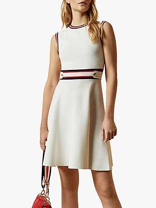 Ted Baker Apryll Sleeveless Mini Dress, Ivory