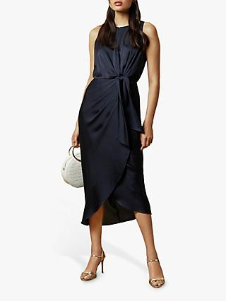 Ted Baker Pohshan Knotted Waist Midi Wrap Dress