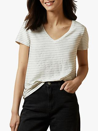 Ted Baker Giianai Striped Top, Natural Ivory