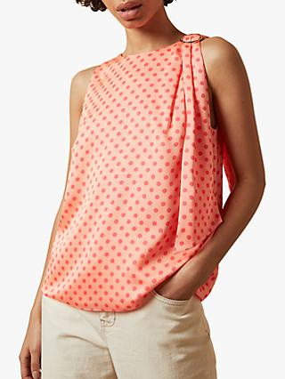 Ted Baker Teresa Sleeveless Halter Neck Top, Coral