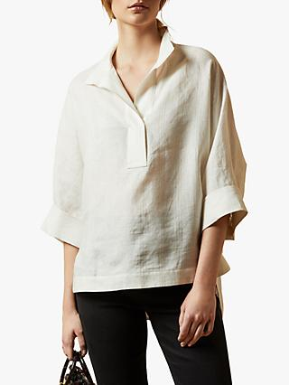 Ted Baker Creela Linen Oversized Shirt