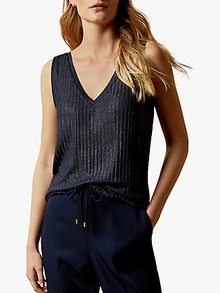 Ted Baker Robinee Metallic Ribbed Vest