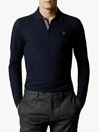 Ted Baker Recline Long Sleeve Polo Shirt