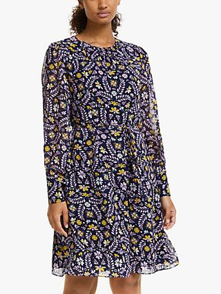 Boden Blossom Print Dress, Navy/Rosebay