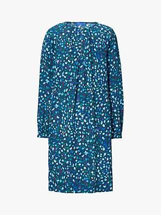 Winser London Mini Rose Print Shift Dress, Blue/Multi