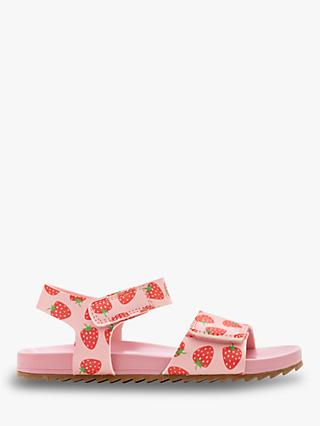 Mini Boden Children's Water Resistant Aqua Sandals, Pink Strawberries