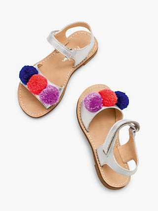 Mini Boden Children's Pompom Holiday Sandals, Multi