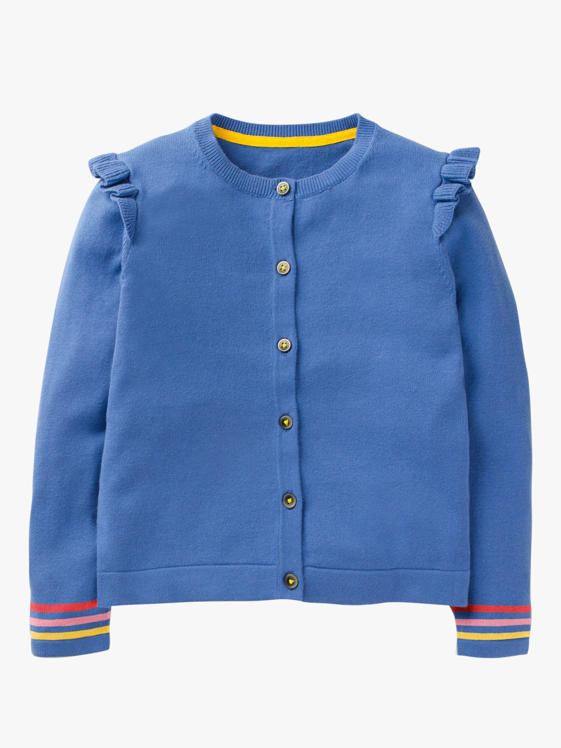 Mini Boden Mini Boden Girls' Everyday Cardigan, Sky Blue