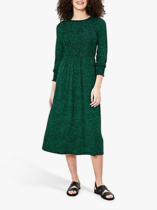 Oasis Harrison Ditsy Midi Dress, Green