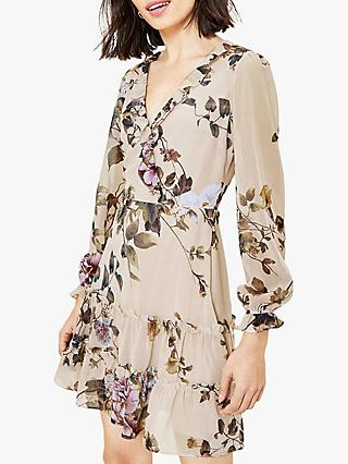 Oasis Botanical Floral Skater Dress, Multi
