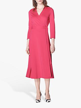 L.K.Bennett Juno Wrap Dress, Raspberry Pink