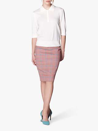 L.K.Bennett Eunice Prince of Wales Check Pencil Skirt