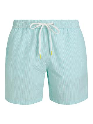 Hartford Seersucker Stripe Swim Shorts