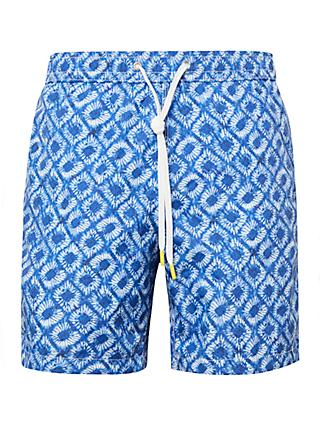 Hartford Tie Dye Swim Shorts, Blue
