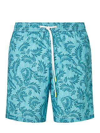 Hartford Palms Print Swim Shorts, Green