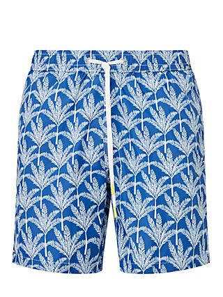 Hartford Tree Print Swim Shorts, Blue