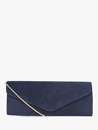 Hobbs Evie Leather Clutch, Midnight