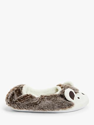 John Lewis & Partners Children's Hedgehog Slippers, Brown