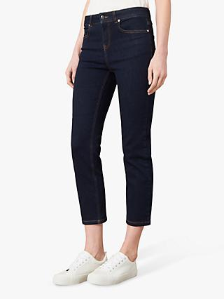 Jaeger Straight Leg Cropped Jeans, Denim