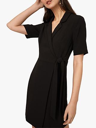 Warehouse Crepe Wrap Mini Dress