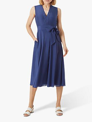 Hobbs Regina Midi Dress, French Navy