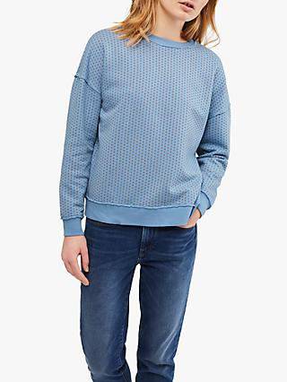 White Stuff Peaches & Cream Jumper, Mid Blue