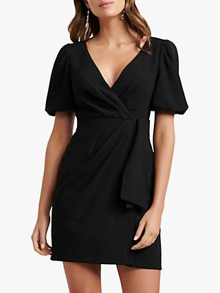 Forever New Jessie Wrap Mini Dress, Black