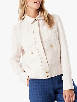Brora Statement 4 Pocket Jacket, Swan