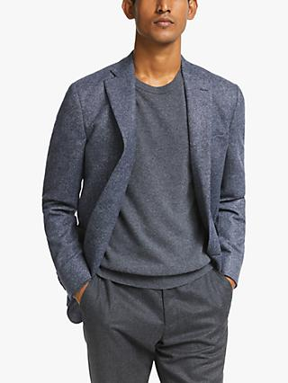 John Lewis & Partners Heavy Twill Wool Blazer, Navy