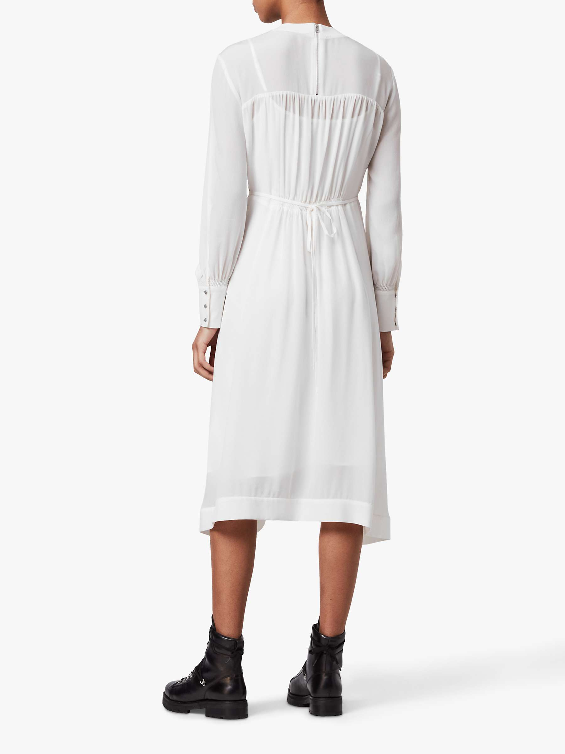 AllSaints Fayre Midi Dress, Chalk White