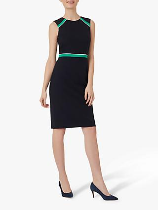 Hobbs Petite Nala Dress, Navy/Green
