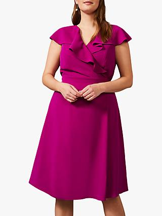 Studio 8 Rachel Wrap Midi Dress, Bright Plum