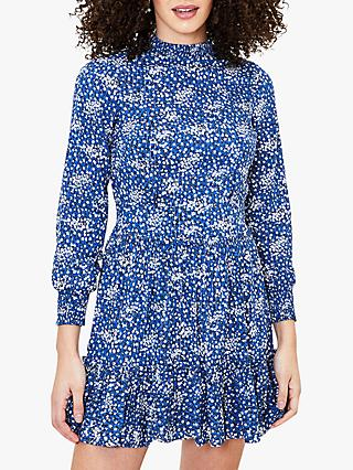 Oasis Sparkle Floral Ditsy Dress, Blue